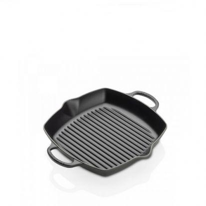 Le Creuset Signature 30cm Deep Square Cast Iron Grill - Satin Black