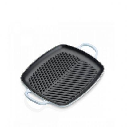 Le Creuset Signature 30cm Rectangular Grill - Coastal Blue