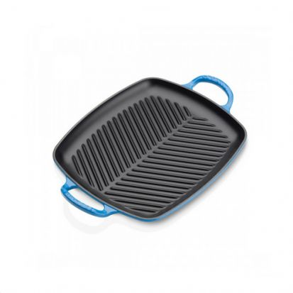 Le Creuset Signature 30cm Rectangular Grill - Marseille Blue