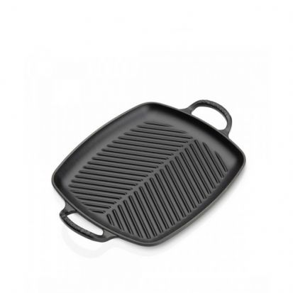 Le Creuset Signature 30cm Rectangular Grill - Satin Black