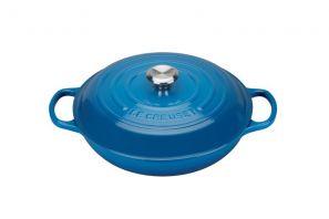 Le Creuset Signature 30cm Shallow Casserole - Marseille Blue