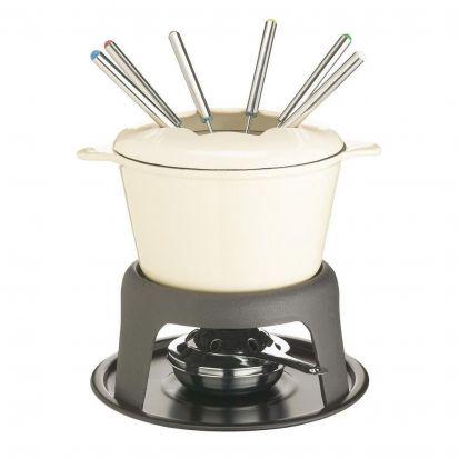 Masterclass Cast Iron Fondue Set Cream