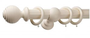 Monarch Earl Cream Complete Curtain Pole Set 160CM