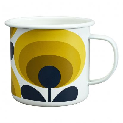 Orla Kiely 70s Flower Enamel Mug - Dandelion