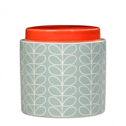 Orla Kiely Linear Stem 1L Storage Jar - Duck Egg