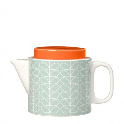 Orla Kiely Linear Stem Teapot - Duck Egg