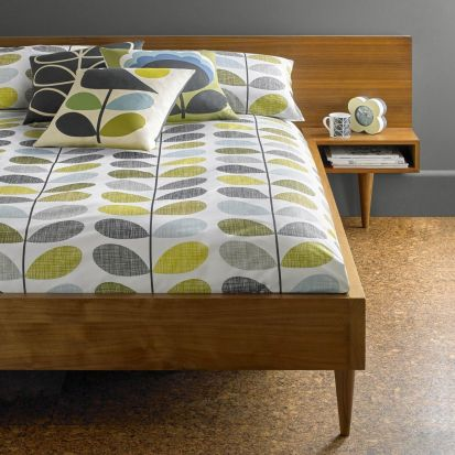 Orla Kiely Scribble Stem Duvet Cover Duckegg Seagrass Double