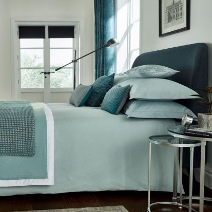 Peacock Blue Santal Jade Duvet Cover Set - Double