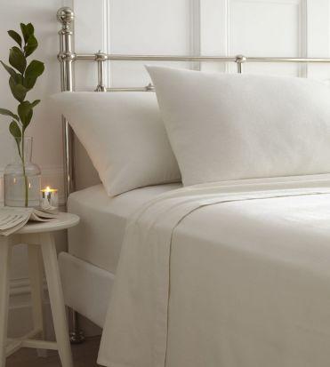 Portfolio Brushed Cotton Sheet Sets Cream - Double