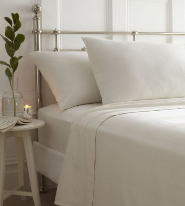 Portfolio Brushed Cotton Sheet Sets Cream - King