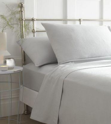 Portfolio Brushed Cotton Sheet Sets Grey - Double