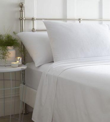 Portfolio Brushed Cotton Sheet Sets White - Single