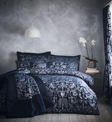 Portfolio Heritage Oak Tree Midnight Blue Duvet Cover Set - Single