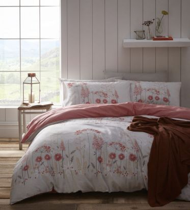 Portfolio Pasture Coral Duvet Cover Set - Double