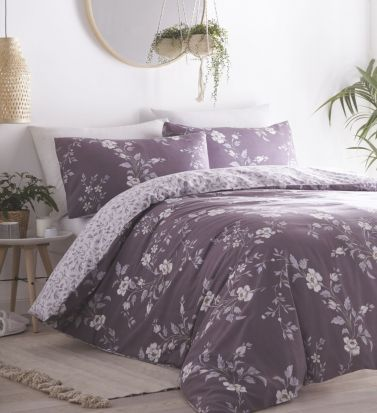 Portfolio Yasmina Plum Duvet Cover Set - Superking