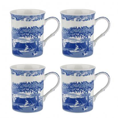 Portmeirion Set of 4 Mugs - Blue Italian