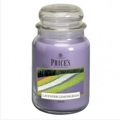 Prices Large Jar Candle Lavender & Lemongrass