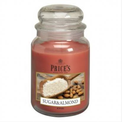 Prices Large Jar Candle Sugar & Almond