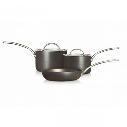 Raymond Blanc Hard Anodised 2 Piece Saucepan Set WITH FREE SKILLET