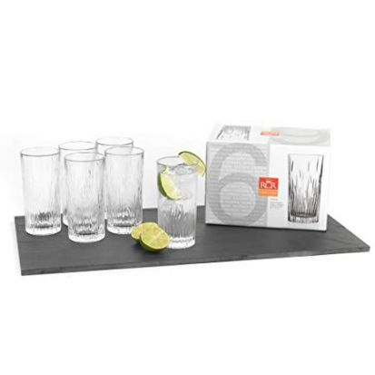 RCR Fire Set of 6 High Ball Glasses