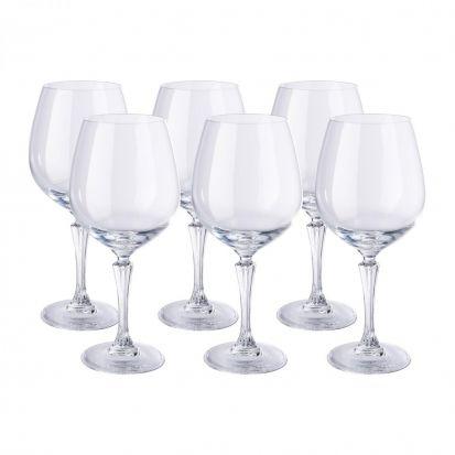 RCR Glamour Set of 6 Bugundy Glasses