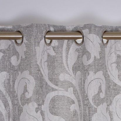 Rochelle Eyelet Curtains Silver 66
