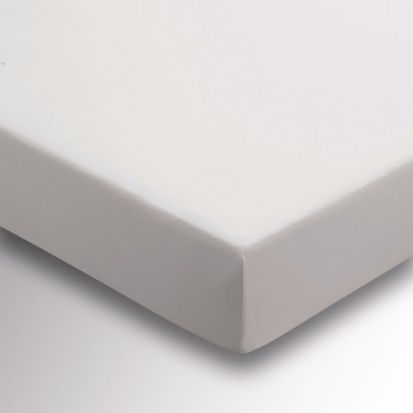 Sanderson 220 Thread Count Plain Dye Pebble Fitted Sheet - Double