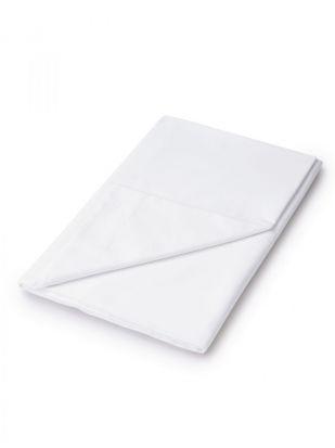 Sanderson 220 Thread Count Plain Dye White Flat Sheet - Single