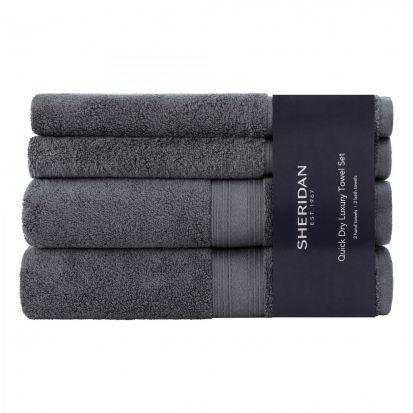 Sheridan Quick Dry Towel Bale - Graphite