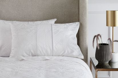 Sheridan Zola Jacquard Ivory Standard Pillowcase Pair