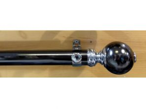 Starr Black Nickle 240CM Smooth Segmented Ball Curtain Pole Set