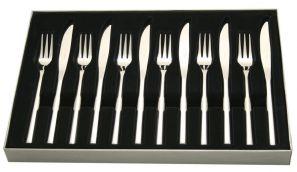 Stellar Rochester Set of 6 Steak Knives with Forks