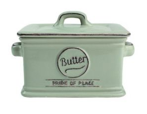 T&G Pride of Place Butter Dish Old Green