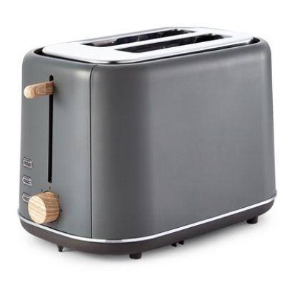 Tower Scandi 2-Slice Toaster - Grey
