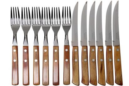 Tramontina Churrasco 12 Piece Knife & Fork Set