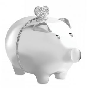 Vera Wang Infinity Baby Piggy Bank Silver