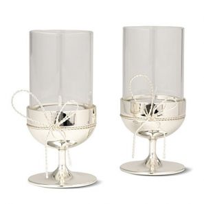Vera Wang Love Knots Tealight Holders Pair