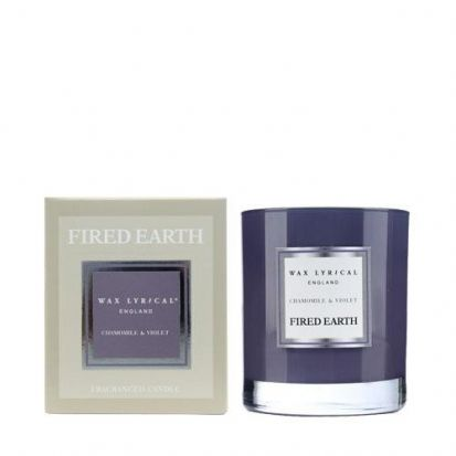 Wax Lyrical Fired Earth Chamomile & Violet Candle