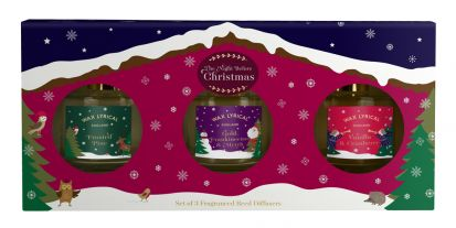 Wax Lyrical The Night Before Christmas Set of 3 100ml Reed Diffusers