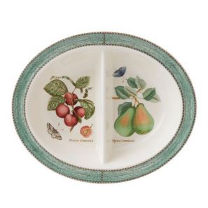 Wedgwood Sarah's Garden Green Oval Divided Dish