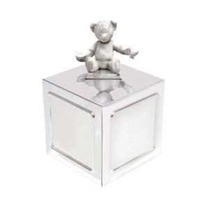 Wedgwood Silver Christening Bear Collection Money Box