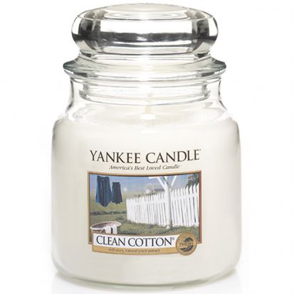 Yankee Candle Medium Jar Clean Cotton