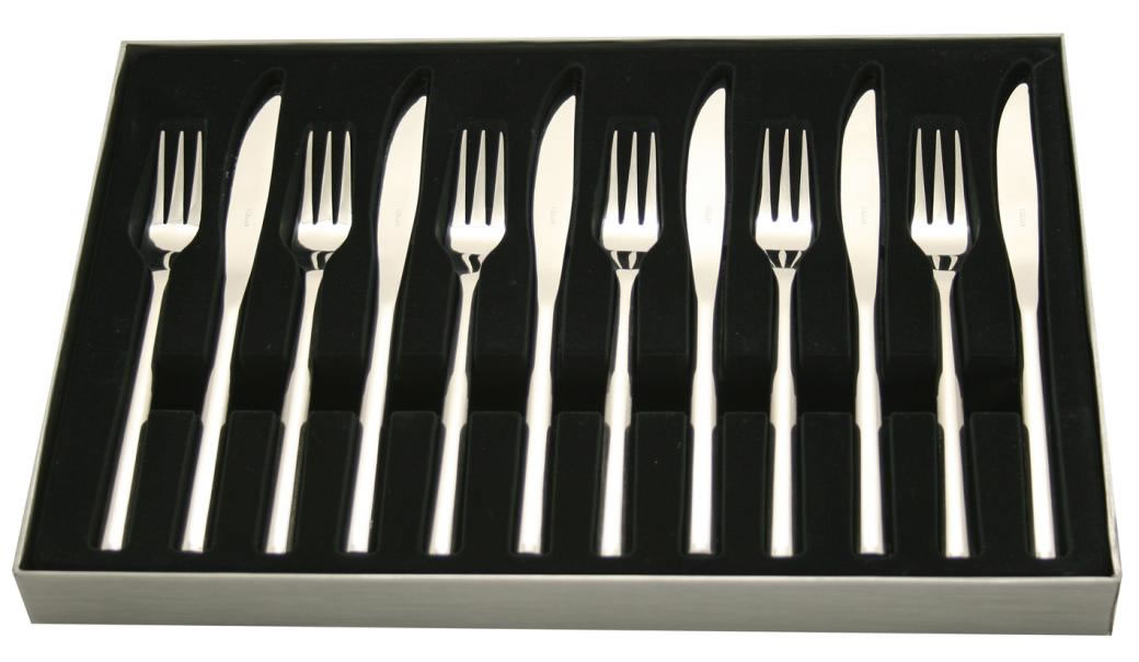 Stellar rochester set of 6 steak knives with forks - Knives and forks sets ...