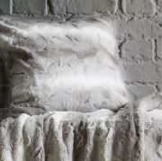 Behrens Faux Fur Cushion Cover Grey 45x45cm 2