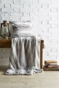 Behrens Faux Fur Throw Grey 130x180cm