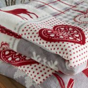 Behrens Printed Sherpa Throw Winter Stag 2