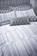 Bianca Cottonsoft Geo Duvet Cover Set Grey - Double 2