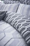 Bianca Cottonsoft Geo Duvet Cover Set Grey - Double 3