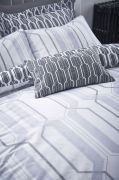 Bianca Cottonsoft Geo Duvet Cover Set Grey - Double 4