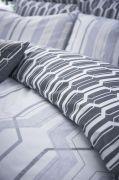 Bianca Cottonsoft Geo Duvet Cover Set Grey - Superking 3